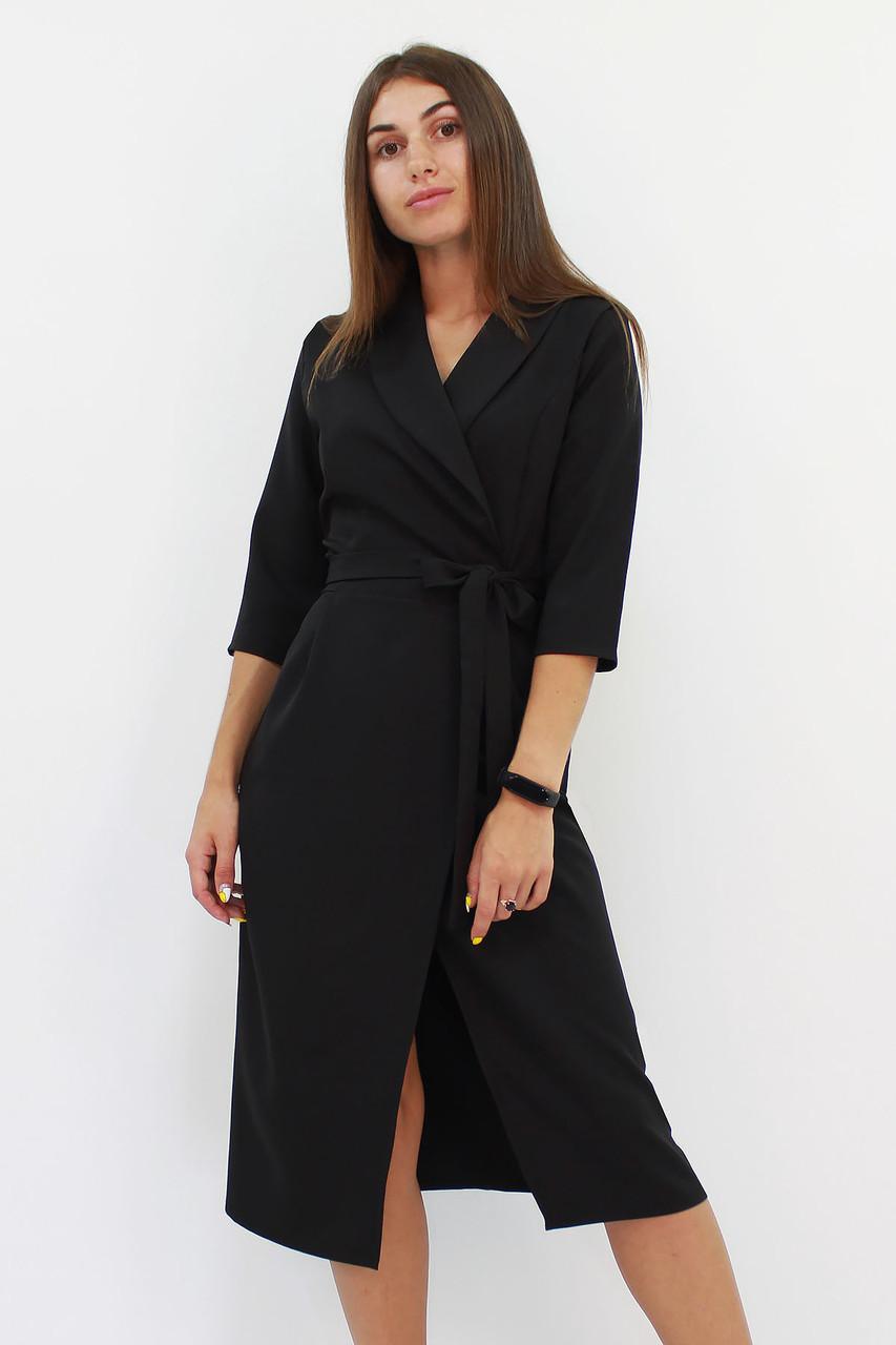 S (42-44) / Вишукане вечірнє плаття на запах Barbara, чорний
