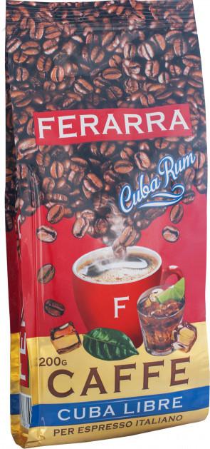 Кофе в зернах Ferarra Caffe Cuba Libre с ароматом кубинского рома 200 г