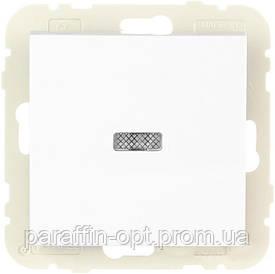 Вимикача 1кл. LOGUS 10АХ, 250V з підсвіткою, білий