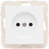Розетка одинарна без з/к LOGUS 16А, 250V, біла