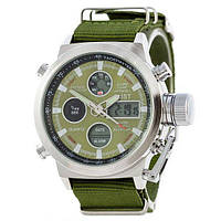 AMST C Silver-Green Green Wristband