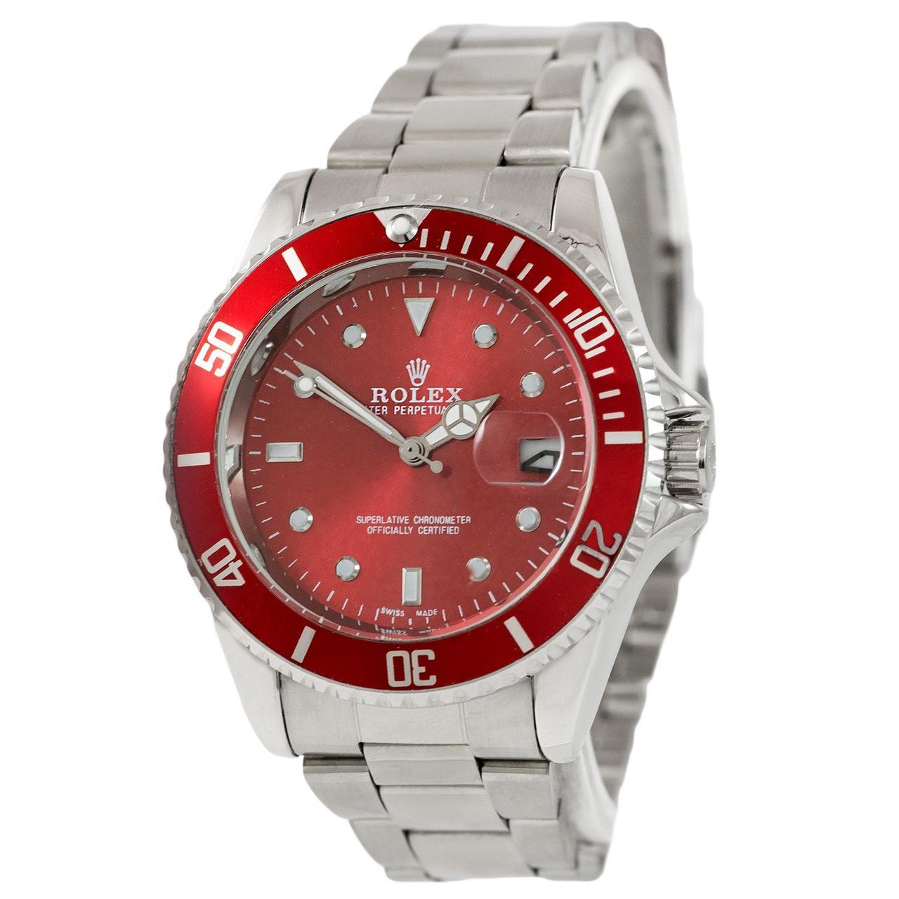 Rolex Submariner 2128 Quarts Silver-Red