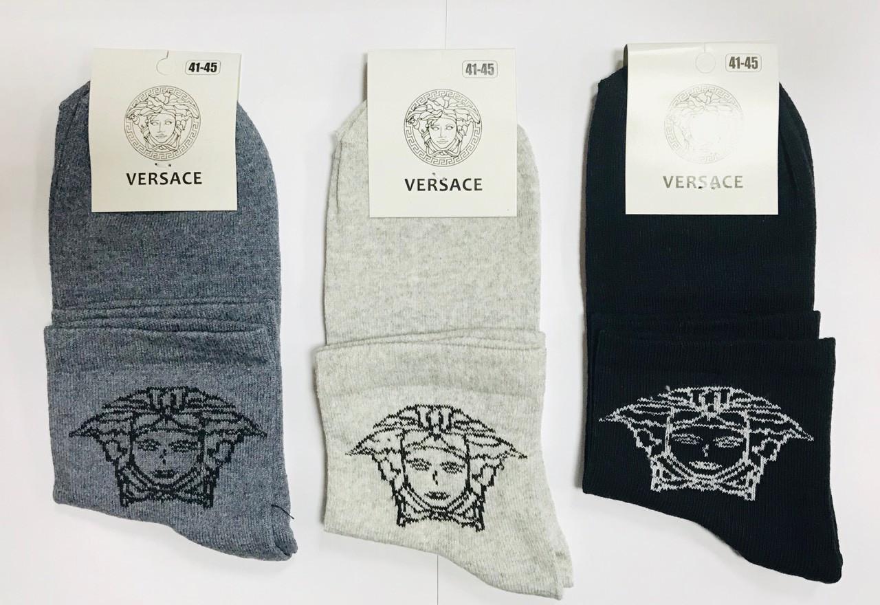Носки мужские демисезонные хлопок средние Versace Турция размер 41-45 ассорти