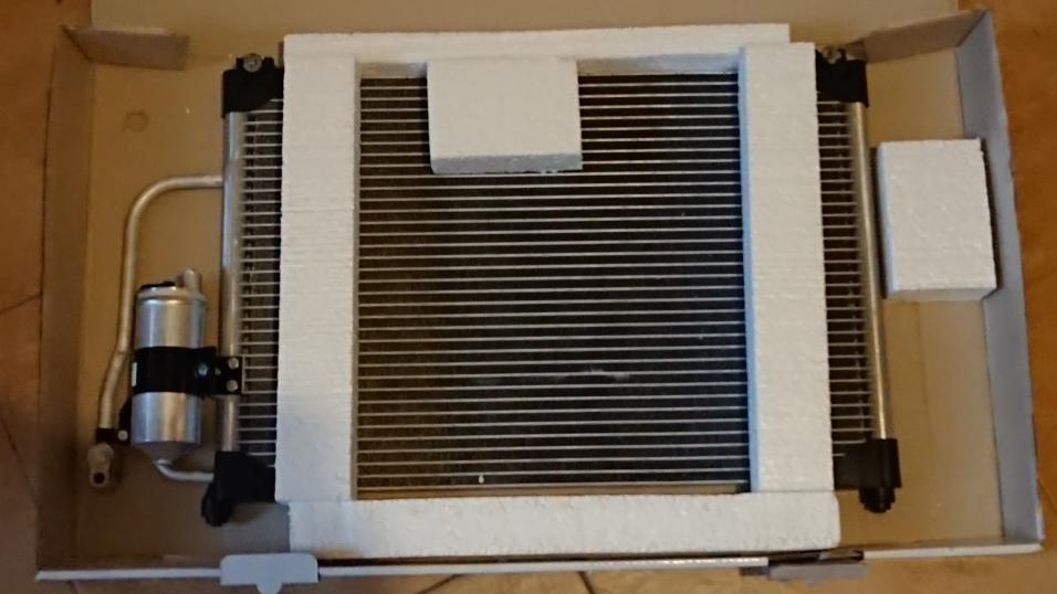 Радиатор кондиционера Ланос 1.5, 1.6 с рессивером (осушителем) АвтоЗаз