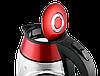 Электрочайник стеклянный Concept RK-4053 красный Чехия, фото 3