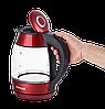 Электрочайник стеклянный Concept RK-4053 красный Чехия, фото 4