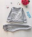 Детский костюм Love для девочки на рост 86-128 см 6 цветов, фото 6