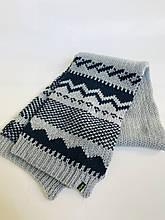 Детский шарф для мальчика BRUMS Италия 133BFLB004 серо-синий