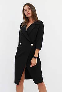 S, M, L / Вишукане жіноче плаття на запах Kristall, чорний
