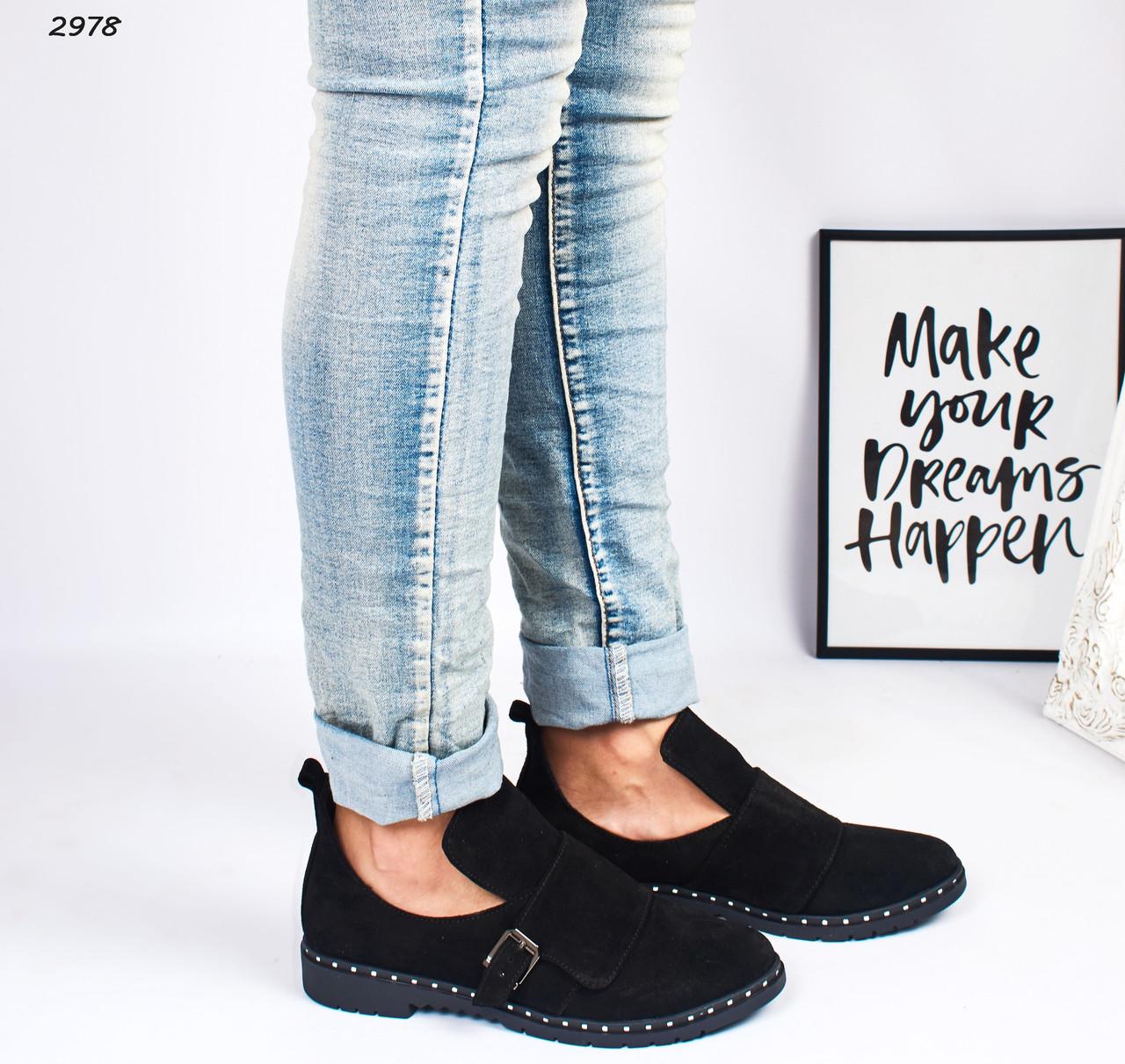 Женские ботинки чёрные натуральная замша :)