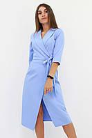 S, M, L / Вишукане вечірнє плаття на запах Barbara, блакитний