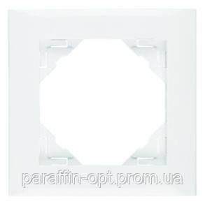 Рамка одинарная универсальная LOGUS белоснежная, фото 2