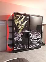 Шкаф с подсветкой по периметру и фотопечатью. Шкафы-купе на заказ Днепр., фото 1