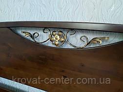 """Двуспальная кровать из массива дерева от производителя """"Фантазия"""" 160х190/200 (лесной орех), фото 3"""