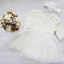 Дитяче плаття для дівчинки Святковий одяг для дівчаток Одяг для дівчаток 0-2 Happy tot 649в