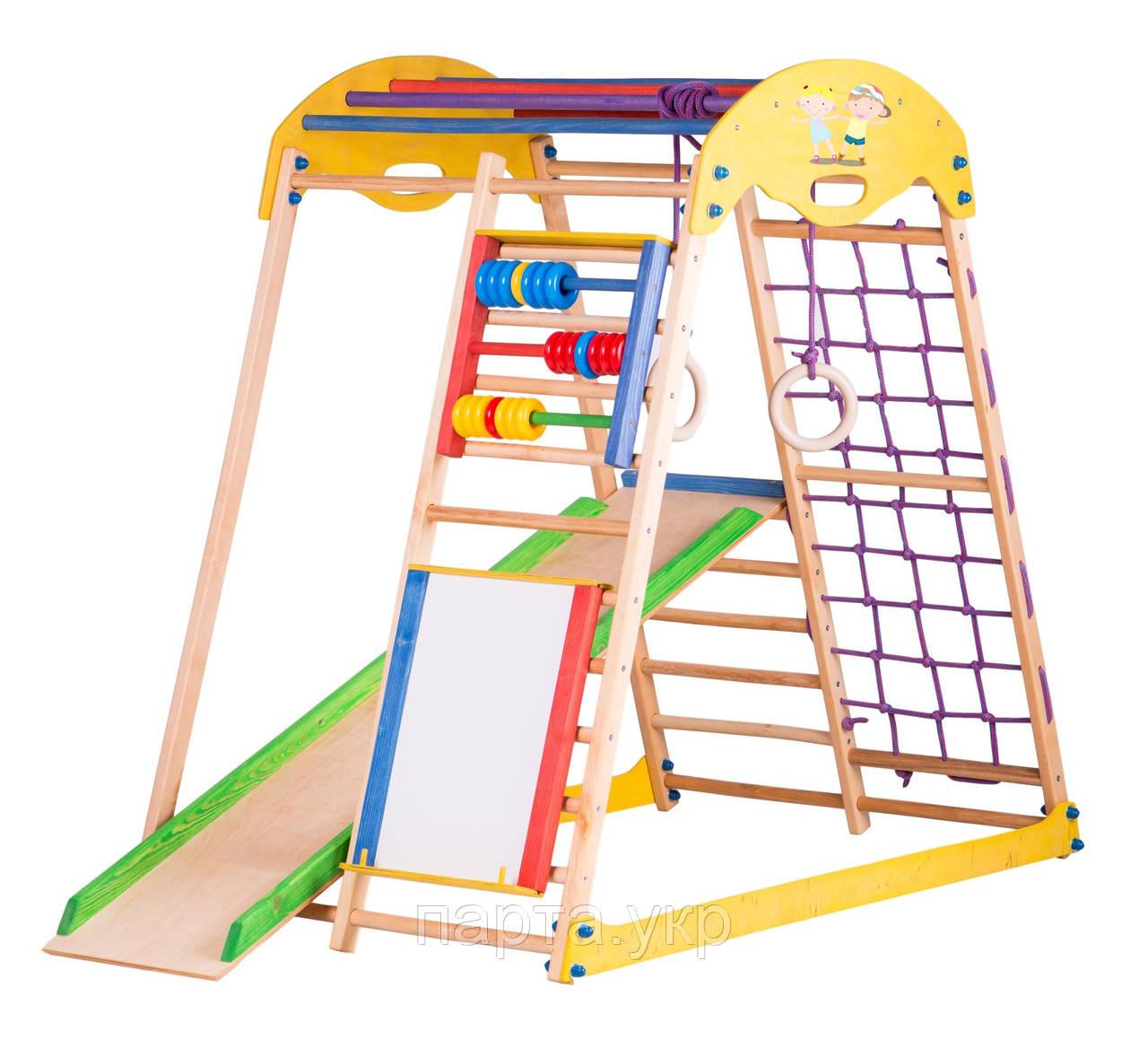 Игровая шведская стенка Kids Play (мольберт и счеты)
