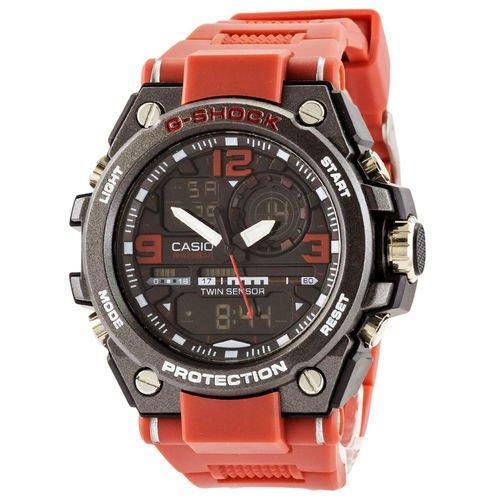 Casio G-Shock GST-1000 Black-Red Wristband