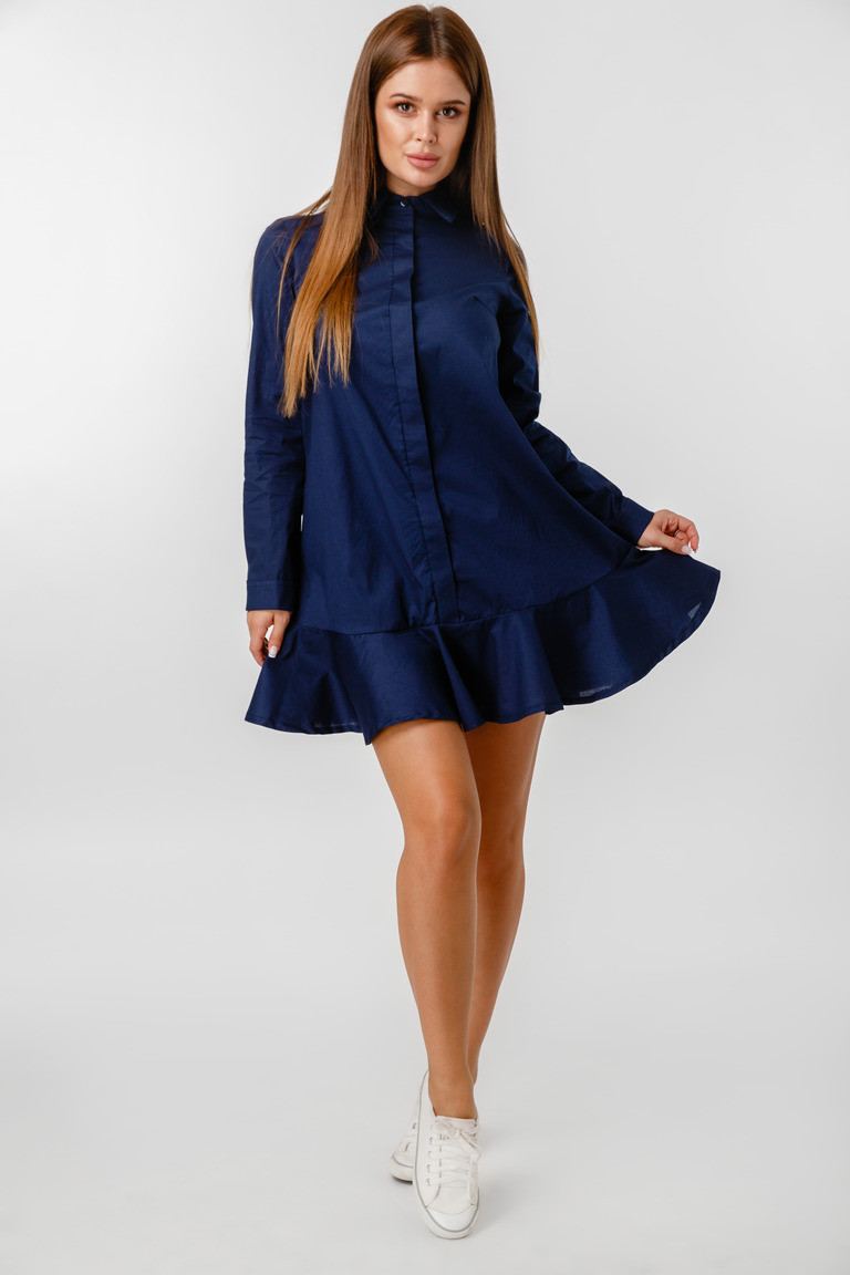 Платье LiLove 1-020-1 52 синий