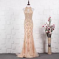 Платье ручной работы коллекция 2019-2020. Вечірнє плаття рибка. Очень красивое вечернее платье расшито бисером