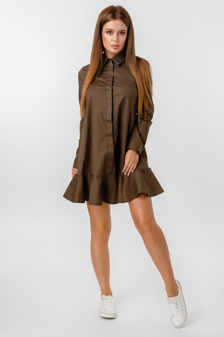 Платье LiLove 1-020-2 48 хаки