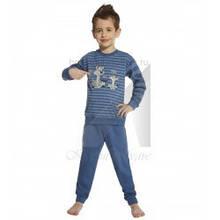 Детская пижама для мальчика CORNETTE Польша CATS & DOGS, синяя