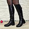 Сапоги женские   кожаные на невысоком устойчивом каблуке, фото 4