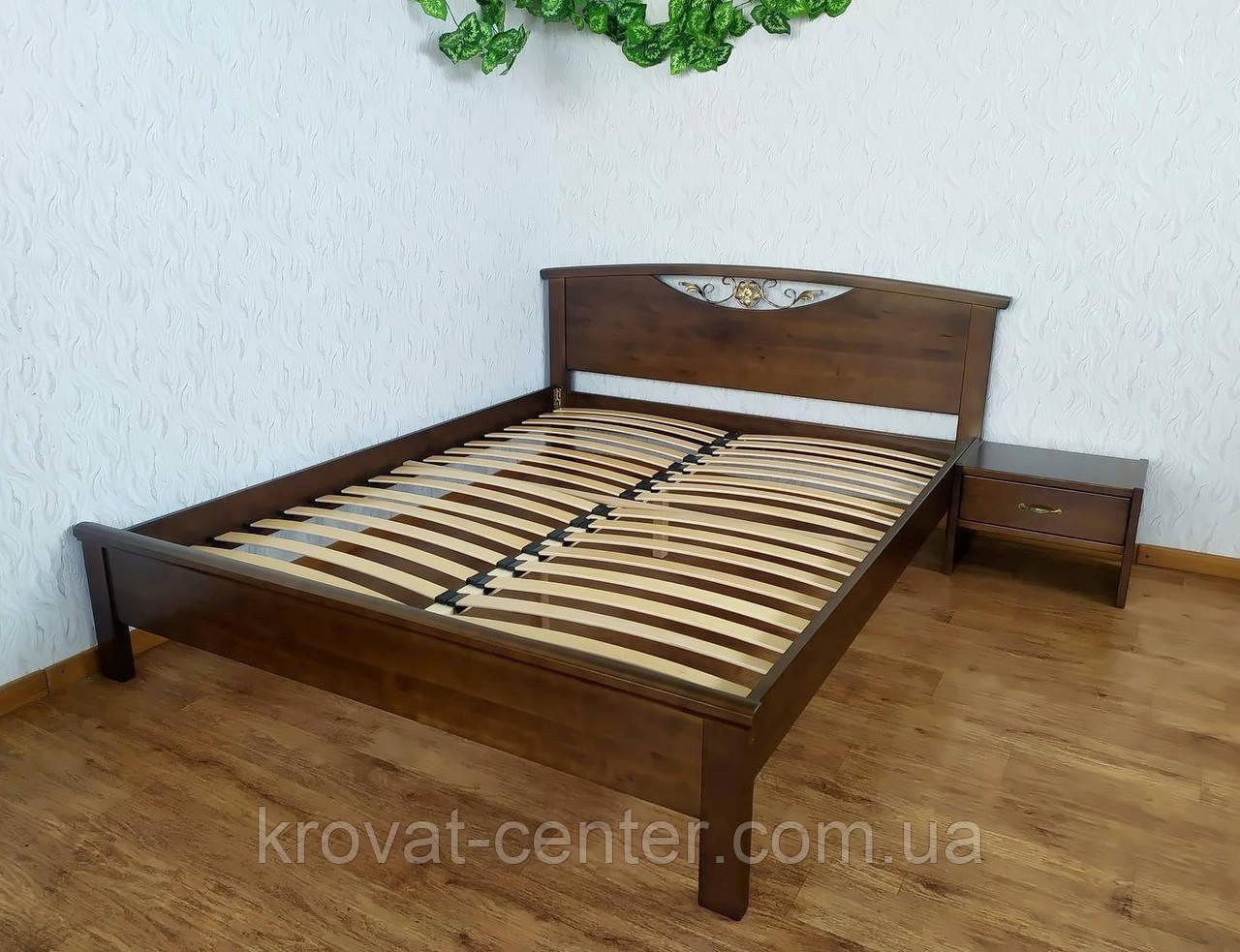 """Двуспальная кровать """"Фантазия"""" (лесной орех)"""
