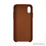 "Накладка Apple Leather iPhone Xs/X {5.8""} saddle brown [копия], фото 3"