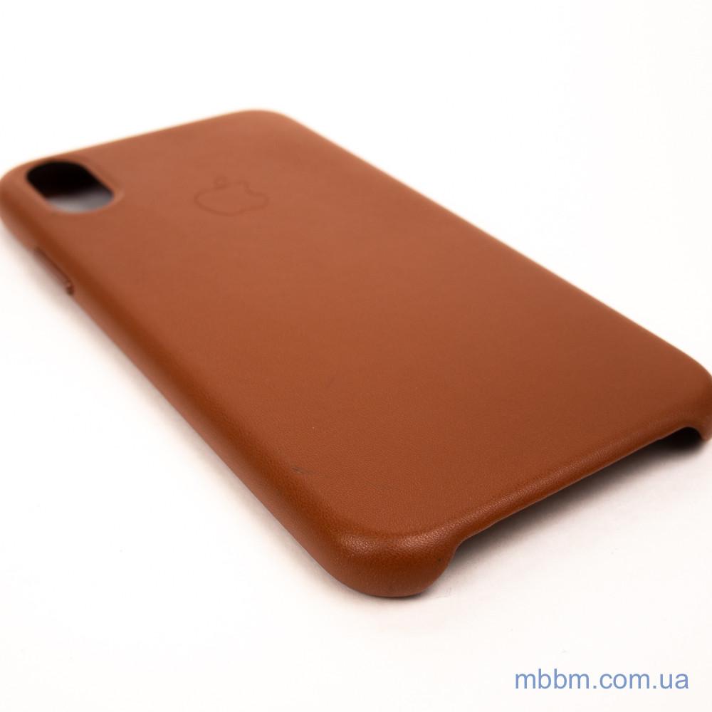 Накладка Apple Leather iPhone Xs