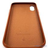 "Накладка Apple Leather iPhone Xs/X {5.8""} saddle brown [копия], фото 6"