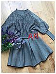 Женское стильное платье-двойка: свитер и платье с юбкой-солнце (в расцветках), фото 3