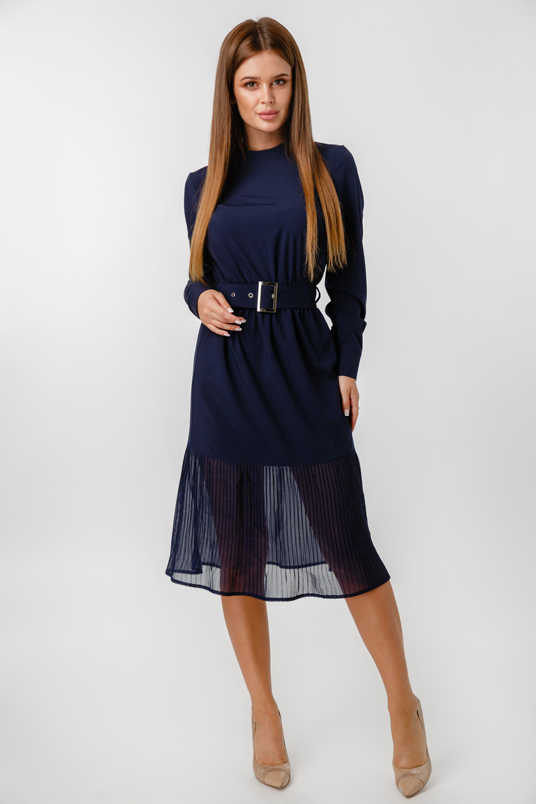 Платье LiLove 1-021-1 44 синий