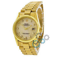 Rolex Date Just Gold Pearl