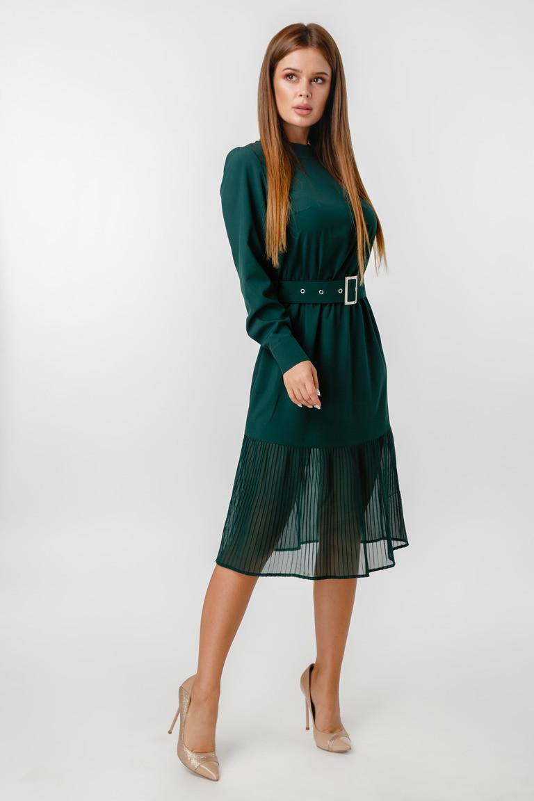Платье LiLove 1-021-2 46 зеленый