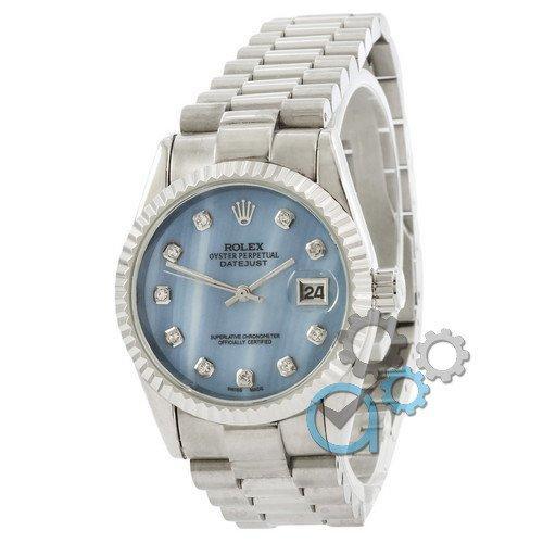 Rolex Date Just Silver-Blue Pearl