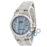 Rolex Date Just Silver-Blue Pearl, фото 1