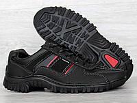 Мужские кроссовки демисезонные черные весна-осень (Кз-27ч-2)