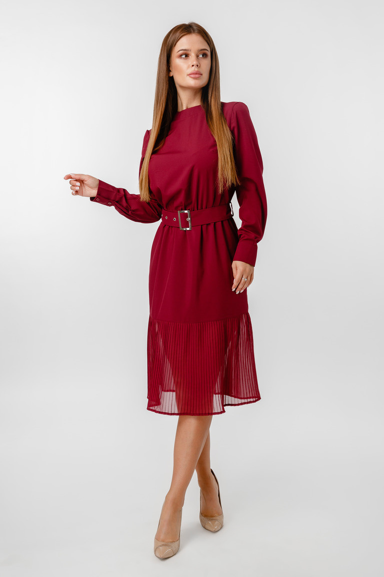 Платье LiLove 1-021-3 42 бордовый
