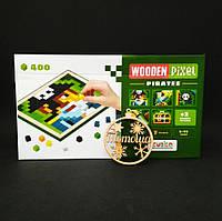 Деревянная пиксельная мозаика Пираты Кубика / Піксельна мозаїка Wooden Pixel 5 Pirates Cubika 14910