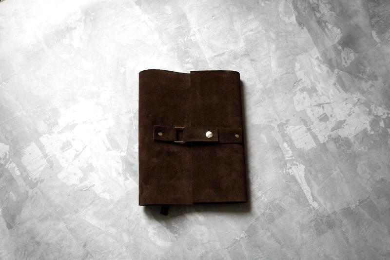 Замшевый блокнот ежедневник мужчине Шоколад