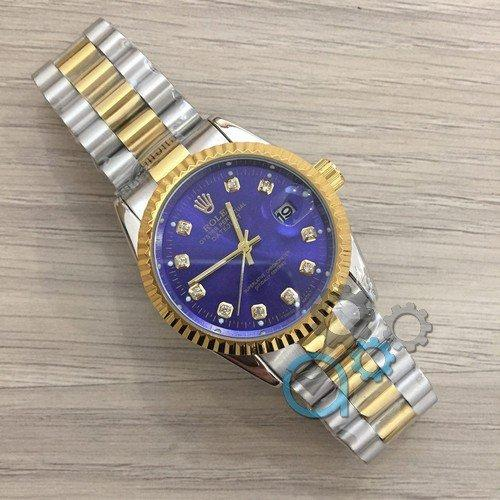 Rolex Date Just New Silver-Gold-Blue