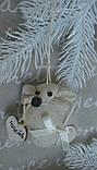 """Іграшка ручної роботи - мишка з побажаннями """"Іриска"""", вис. 9 див., 50/40 (ціна за 1 шт. + 10 гр.), фото 2"""