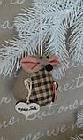"""Іграшка ручної роботи - мишка з побажаннями """"Іриска"""", вис. 9 див., 50/40 (ціна за 1 шт. + 10 гр.), фото 4"""