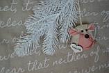 """Іграшка ручної роботи - мишка з побажаннями """"Іриска"""", вис. 9 див., 50/40 (ціна за 1 шт. + 10 гр.), фото 5"""