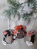 """Іграшка ручної роботи - мишка з побажаннями """"Іриска"""", вис. 9 див., 50/40 (ціна за 1 шт. + 10 гр.), фото 7"""