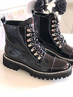 Осенние женские ботинки BALMAIN (реплика), фото 1