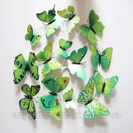 Объемные бабочки на стену для декора