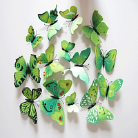 Об'ємні 3D метелики на стіну для декору