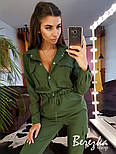 Женский стильный комбинезон брючный с накладными карманами (в расцветках), фото 3