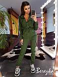 Женский стильный комбинезон брючный с накладными карманами (в расцветках), фото 4